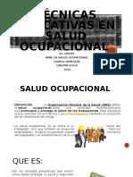 Técnicas educativas en salud ocupacional - actividad 1 UNIMINUTO