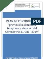 PLAN DE CONTINGENCIA COVID-19 ESE SAN JERONIMO V2