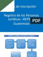 Registro de las personas jurídicas -REPEJU- rutas de inscripción, Guatemala