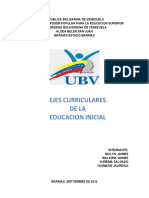ejes curriculares