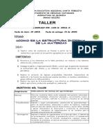 QUIMICA DECIMO  TALLER No. 1 (2)