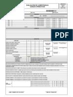 ADM-FOR-052 EVALUACIÓN DE COMPETENCIAS CARGOS OPERATIVOS REV 2