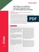 Premier bilan et conditions de succès de l'Agenda 2030 pour le développement durable