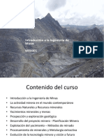 Introducción a la Ing. de Minas 2019-2  MODULOS
