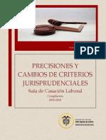 PRECISIONES Y CAMBIO DE CRITERIO JURISPRUDENCIAL- MAYO 2020