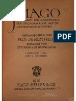 Revista Imago de 1912 edición 1 Vol. 5