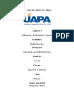UNIDAD I Elavoracion y Evaluacion de Proyectos I