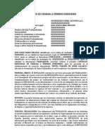 MODELO CONTRATO DE TRABAJO A TÉRMINO INDEFINIDO