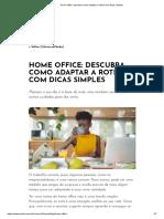 Home office_ descubra como adaptar a rotina com dicas simples
