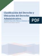 Clasificación del Derecho y Ubicación del Derecho Administrativo