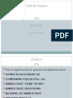 LEX 3 guía de examen