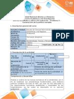 Guia de actividades y rubrica de evaluacion Problema 3 - Construccion de la politica contable