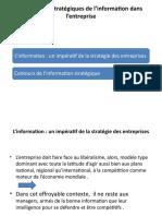 Dimensions stratégiques de l'information dans l'entreprise