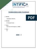CATHERINE JORGE DEJO - TROMBOEMBOLISMO PULMONAR