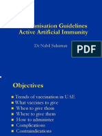 Immunization Schedule in UAE 1 Nov 2009