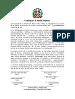 Certificación de Alcalde Pedáne1