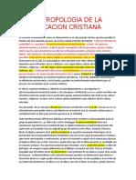 ANTROPOLOGIA DE LA VOCACION CRISTIANA NOTAS