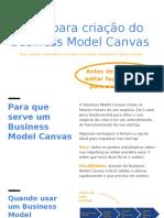 Guia para criação do Business Model Canvas