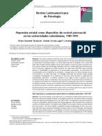 Represión estatal como dispositivo de control psicosocial en las universidades colombianas, 1981-1991