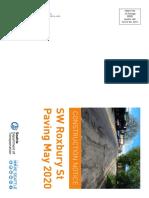 Roxbury Paving Construction Folded Mailer