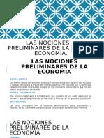 Las nociones preliminares de la economía 17.DIC.19