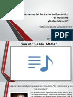 Las Corrientes del Pensamiento Económico 20 y 21 ene.2020