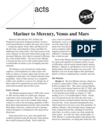 NASA Facts Mariner to Mercury, Venus and Mars