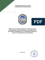 DIRECTIVA N° 013-2019-R UNAC  USO DEL SOFTWARE ANTIPLAGIO