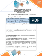 Guia  de actividades y Rúbrica de evaluación Caso 3 Análisis