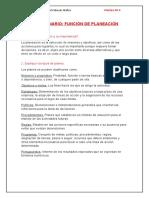 Ejemplo de aplicación de la Planeación y la Organización