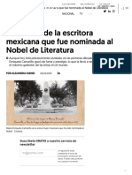 La historia de la escritora mexicana que fue nominada al Nobel de Literatura