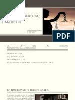 P. DEL INDUBIO PRO REO Y P. INMEDIACION- GR DEL DERECHO
