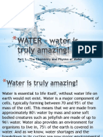 Some Chemistry and Physics of Water