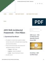 AWS Well-Architected Framework - Five Pillars - Tutorials Dojo