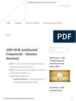 AWS Well-Architected Framework - Disaster Recovery - Tutorials Dojo