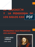 LA EDUCACION Y LA PEDEGOGIA DE LOS SIGLOS