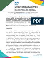 A IMPORTÂNCIA DA AUTOFORMAÇÃO DO EDUCADOR NO DESENVOLVIMENTO DE HABILIDADES SOCIOEMOCIONAIS  2018