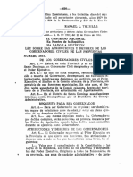 Ley No.2661, Sobre los Gobernadores Civiles de las Provincias