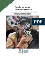LIBRO SED Escuelas Que Narran y Resignifican La Memoria DIIP-SED UDFJC