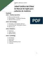 Segundo Manual de Ingles para estudiantes de medicina