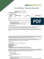 Información Técnica - Tubos de alta presión