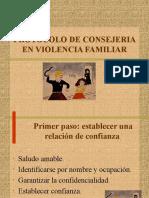 Protocolo de consejeria Violencia familiar