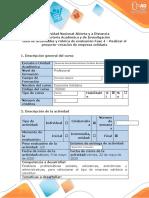 Guía de actividades y rúbrica de evaluación-Fase 4-Realizar el proyecto-creación de empresa solidaria