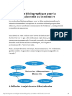 La Recherche Bibliographique Pour La Thèse Professionnelle Ou Le Mémoire
