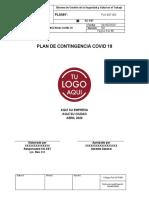 GUIA PLAN DE CONTIGENCIA COVID - 19