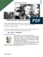 EVOLUCIÓN DEL PENSAMIENTO ECONÓMICO LECTURA 1.