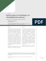 Educar para la virtualidad y la virtualidad para educar (1)