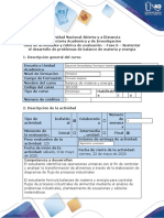 Guía de actividades y rúbrica de evaluación-Fase 6-Sustentar el desarrollo de problemas de balance de materia y energía