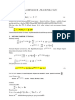 Persamaan Diferensial Linear Tungkat Satu