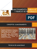 ALMACENAMIENTO, EMBALAJE Y MANEJO DE MATERIALES.ppt